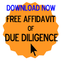 Free Affidavit of Due Diligence