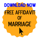 Free Affidavit of Marriage Form