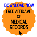 Free Affidavit of Medical Records Form