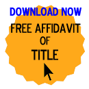 Free Affidavit of Title Form