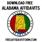 Free Alabama Affidavit Form