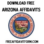 Free Arizona Affidavit Form