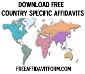 Free Country Specific Affidavit Form