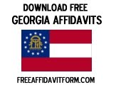 Free Georgia Affidavit Form