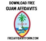 Free Guam Affidavit Form