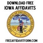 Free Iowa Affidavit Form