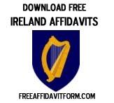 Free Ireland Affidavit Form