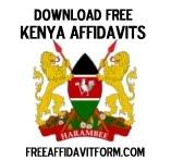 Free Kenya Affidavit Form