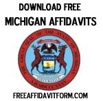 Free Michigan Affidavit Form