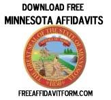 Free Minnesota Affidavit Form