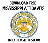 Free Mississippi Affidavit Form