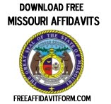 Free Missouri Affidavit Form