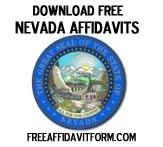 Free Nevada Affidavit Form