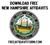 Free New Hampshire Affidavit Form