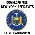 Free New York Affidavt Form