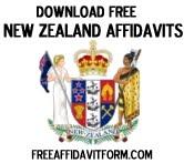 Free New Zealand Affidavit Form