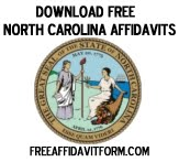 Free North Carolina Affidavit Form