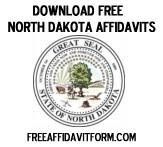 Free North Dakota Affidavit Form