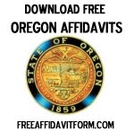 Free Oregon Affidavit Form