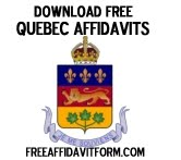 Free Quebec Affidavit Form