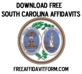 Free South Carolina Affidavit Form