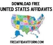 Free US Affidavit Form