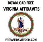 Free Virginia Affidavit Form