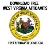 Free West Virginia Affidavit Form
