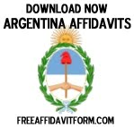 Free Argentina Affidavit Forms