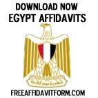 Free Egypt Affidavit Forms