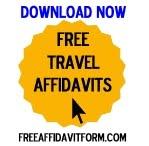 Free Affidavit Authorization for Minor to Travel Form