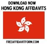 Free Hong Kong Affidavit Forms