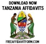 Free Tanzania Affidavit Forms