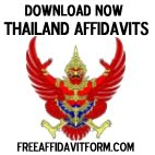 Free Thailand Affidavit Forms