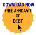 Free Affidavit of Debt Form