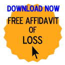 Free Affidavit of Loss Form