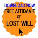 Free Affidavit of Lost Will Form