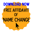 Free Affidavit of Name Change Form