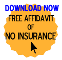 Free Affidavit of No Insurance form