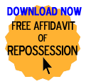 Free Affidavit of Repossession Form
