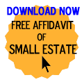 Free Affidavit of Small Estate Form