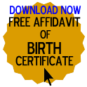 Free Affidavit of Birth Certificate Form