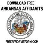 Free Arkansas Affidavit Form