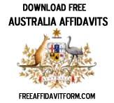 Free Australia Affidavit Form