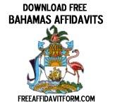 Free Bahamas Affidavit Form