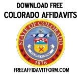 Free Colorado Affidavit Form