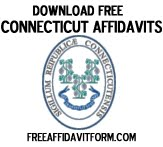 Free Connecticut Affidavit Form