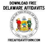 Free Delaware Affidavit Form