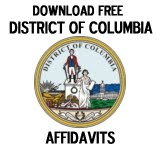Free District of Columbia Affidavit Form