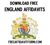 Free England Affidavit Form